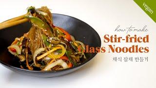 Vegan Japchae, Stir-fried Gla…