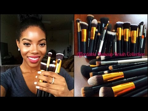 My AFFORDABLE Makeup Brush Collection & How I Clean Them!!