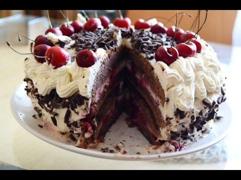 Как приготовить торт « Черный лес»  Schwarzwaelderkirschtorte
