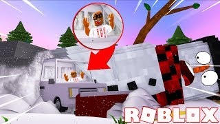 KILLING FROSTY IL SNOWMAN IN ROBLOX (ROBLOX WINTER SIMULATOR)