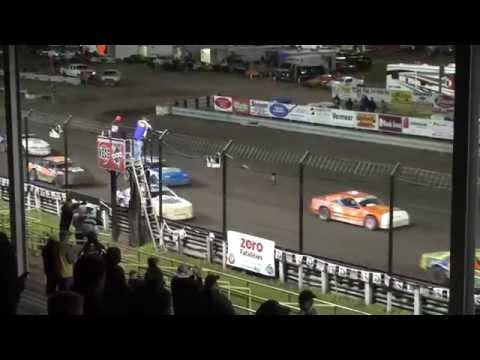 29th Annual Fall Challenge IMCA Stock Car feature Southern Iowa Speedway 10/2/15
