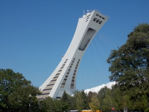 cable railway or funicular ride up the Montreal Olympic stad