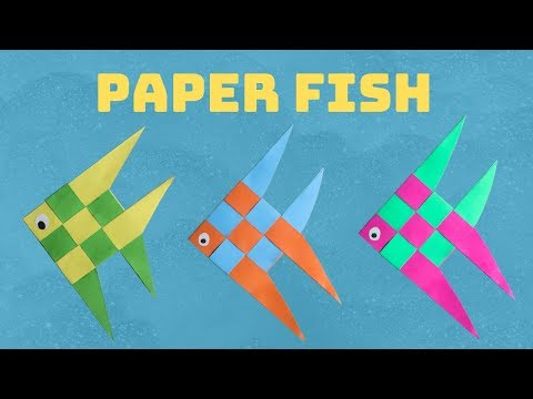 Paper Fish | Multi-color Paper Fish | Stripped Paper Fish | DIY Paper Fish | Origami Fish