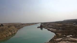 أكبر بحيرة من المياه فى قناة السويس الجديدة
