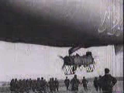 C24 AIRSHIP COMING IN TO LAND WW1