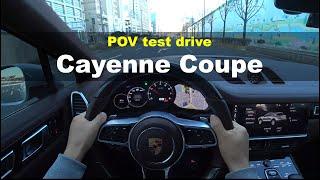 Porsche Cayenne Coupe POV test drive