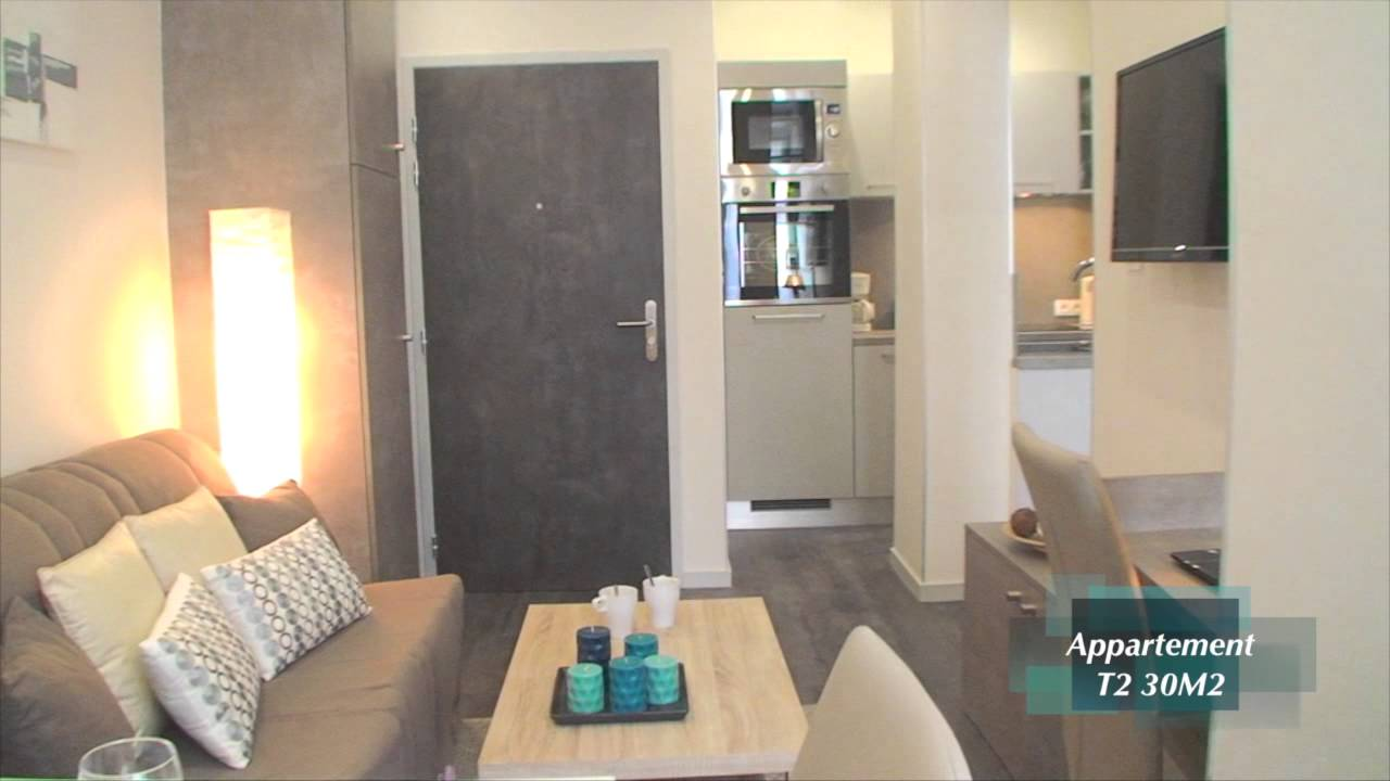 T2 30m2 youtube for Deco appartement t2