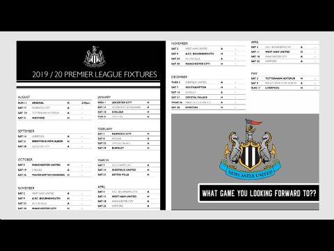 newcastle-united's-premier-league-2019/20-fixtures-released