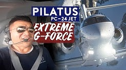 Test Flight on Pilatus PC-24 Jet. Extreme G-Force!