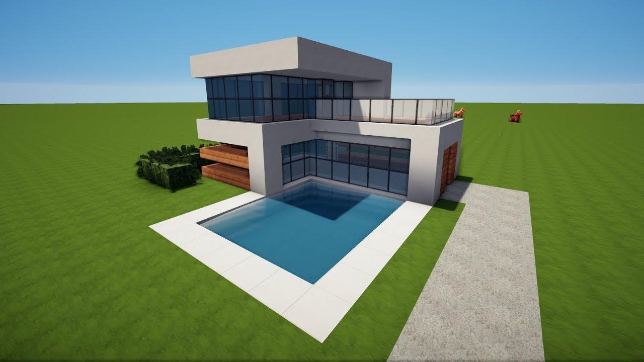 Minecraft kleines modernes haus bauen tutorial haus 95 for Modernes haus bauen