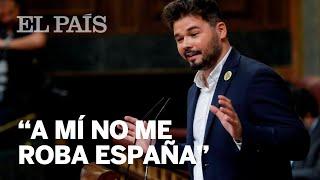 INVESTIDURA | El discurso de Rufián, en 8 minutos