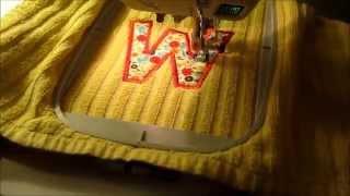 Machine Applique Embroidery with Baby lock Ellageo