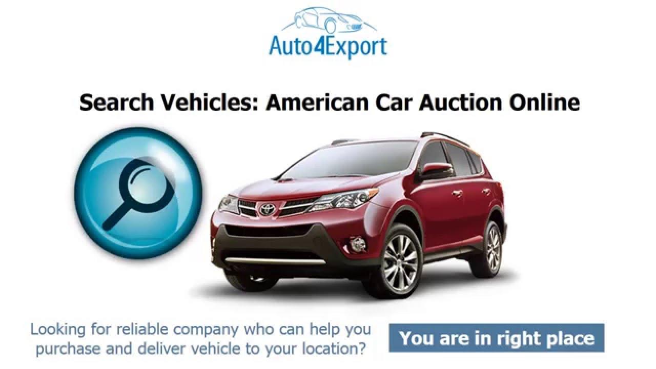 USA Auto Auctions - Auto4Export - YouTube