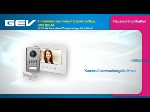 GEV 1- Familienhaus Video-Türsprechanlage CVS 88344
