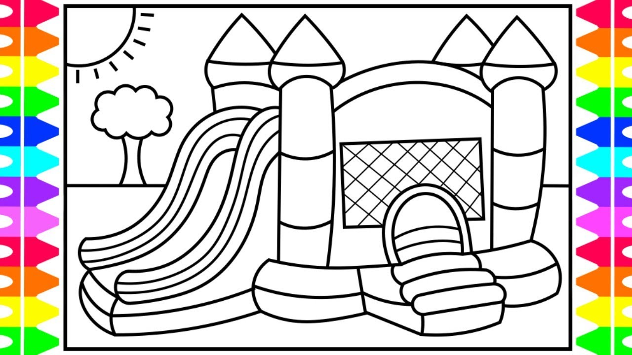 How to Draw a Bouncy House for