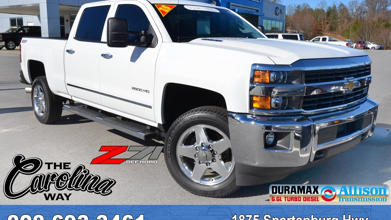 2017 Chevy Silverado White >> A16782 - 2015 Chevrolet Silverado 2500HD LTZ - Summit White - YouTube