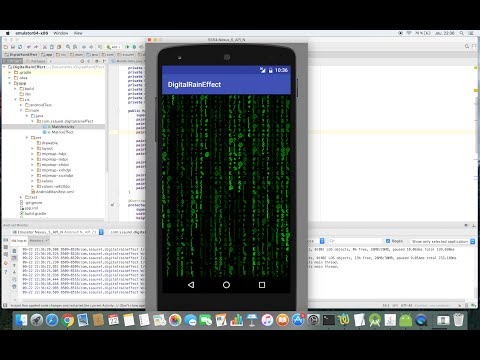Create a Matrix Effect on Android