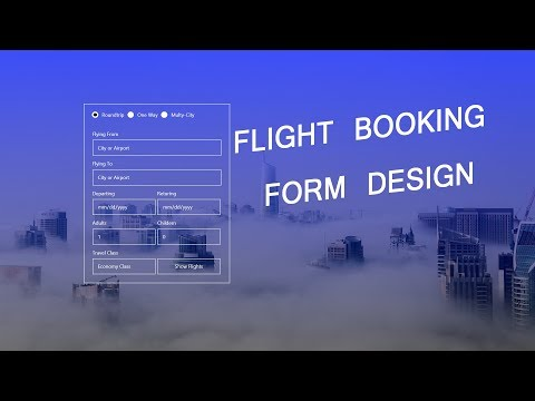 How To Make Travel Booking Form | Flight Booking Form Using HTML CSS Bootstrap