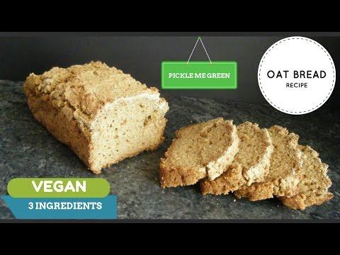 Healthy Oat Bread - vegan friendly - 3 ingredients !
