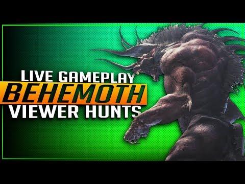 🔴 MHW BEHEMOTH IS HERE! BEHEMOTH VIEWER HUNTS! Monster Hunter World Update