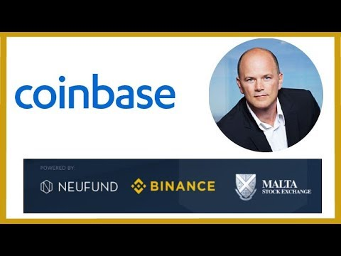 Coinbase Forms PAC - Mike Novogratz Institutional Money - Binance Malta Crypto Stock Exchange