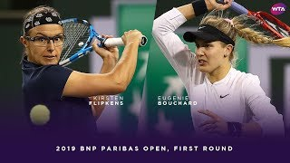 Kirsten Flipkens vs. Eugenie Bouchard | 2019 BNP Paribas Open First Round | WTA Highlights