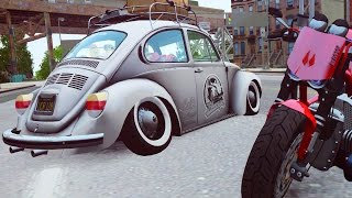 Grand Theft Auto IV - Gameplay w/ Volkswagen Beetle Stance and BMW R1100 R (GTA 4 Gameplay)