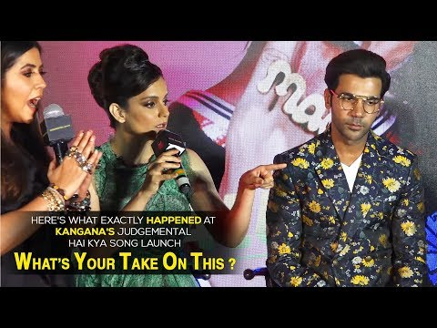 Kangana Ranaut's fight with the journalist and the whole media at Judgemental Hai Kya event Mp3