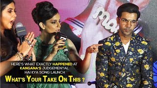 Kangana Ranaut& 39 s fight with the journalist and the whole media at Judgemental Hai Kya event
