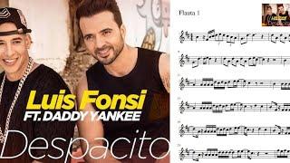 Despacito. Luis Fonsi & Daddy Yankee. Partitura flauta.