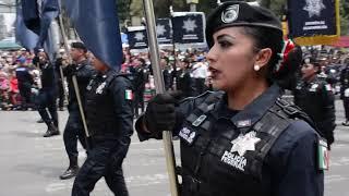 Policía Federal presente en Desfile Conmemorativo de la Independencia de México