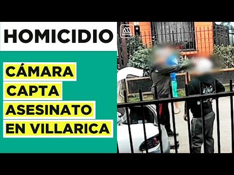 Cámara capta homicidio de joven de 19 años en Villarica