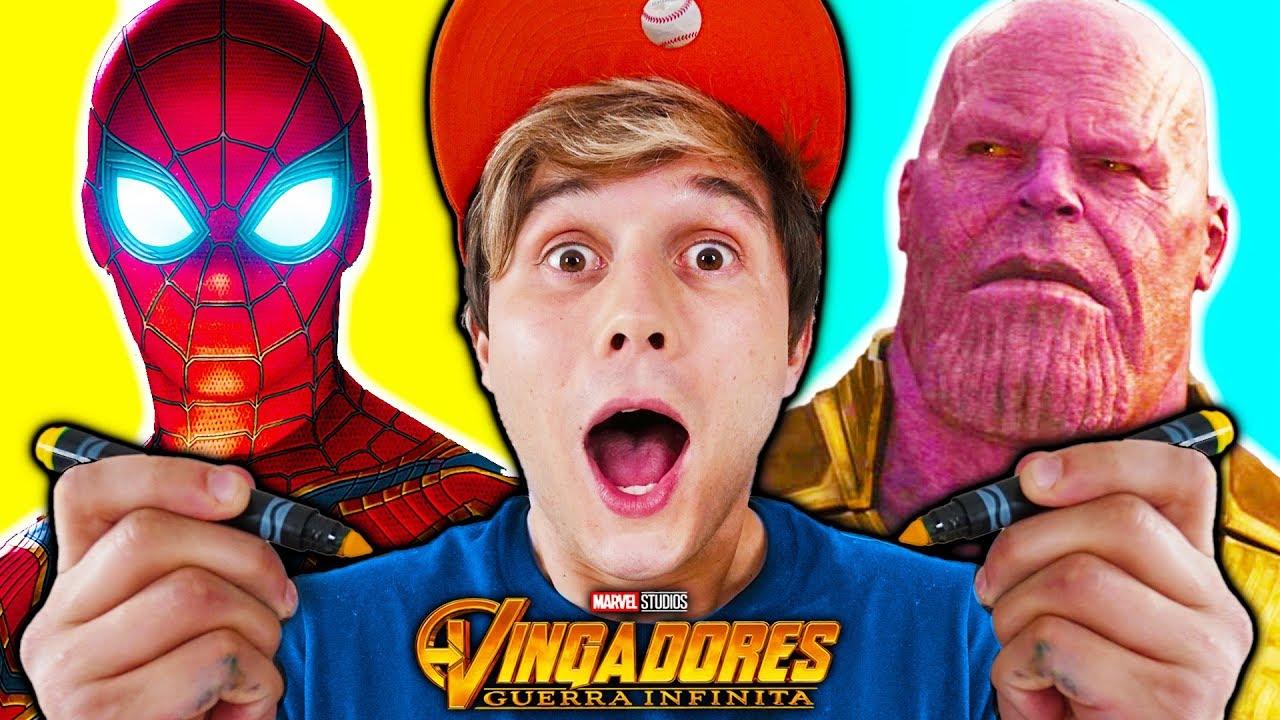 Desenhando Vingadores Ultimato Thanos E Homem De Ferro Aprenda A Desenhar