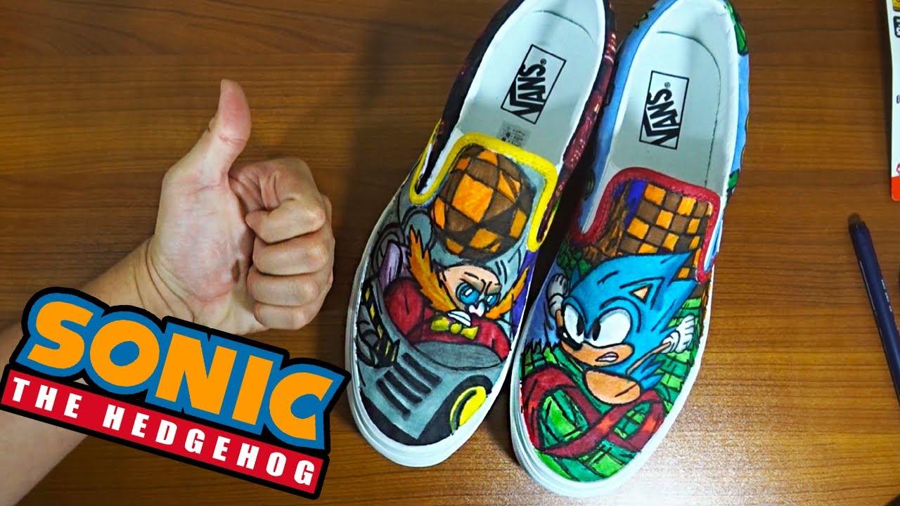 Custom Sonic The Hedgehog Vans Youtube