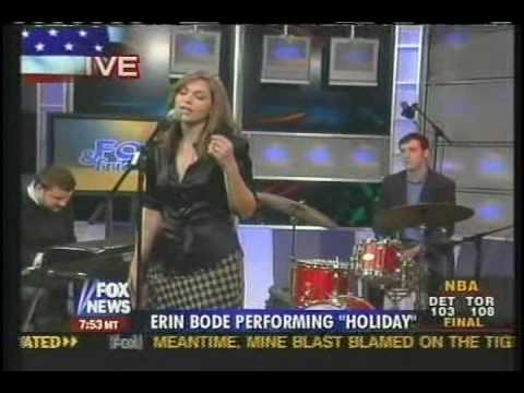 Erin Bode performing on FOX NEWS (4-15-06)