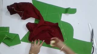 Cross cut blouse cutting for beginners    TAILORING VIDEOS BLOUSE CUTTING