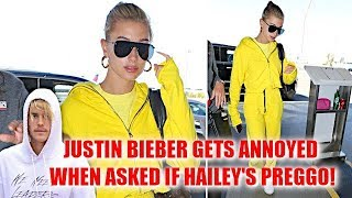 Hailey Baldwin Leaves LA As Fiancé Justin Bieber Gets Upset With A Pap Who Asks If She's Pregnant