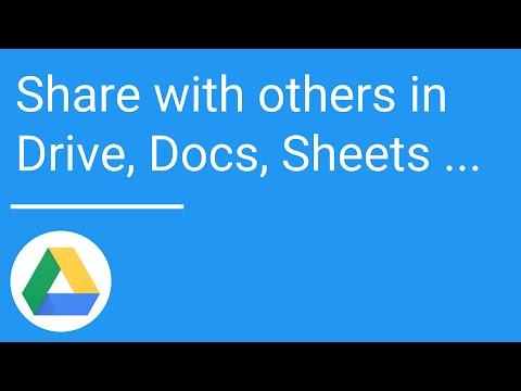 Share With Others In Drive Docs Sheets And Slides
