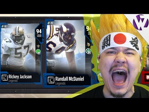NEW LEGEND RANDALL MCDANIEL & RICKEY JACKSON!! - Madden 18 Legend Fantasy Pack Opening