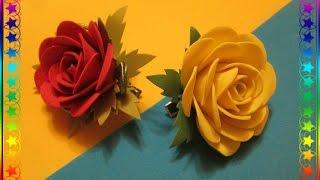 Розы из фоамирана  для начинающих / Мастер класс / flowers from foamirana
