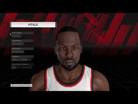 NBA 2k18 Cedric Maxwell Player Creation Tutorial