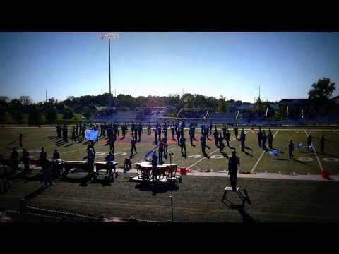 Marion High School marching band at Edwardsville competition.