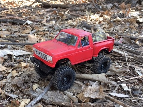Proline Ambush 4x4 RC - 1:25 scale RC crawler in Forest action - 1979 Ford  F-150 4x4