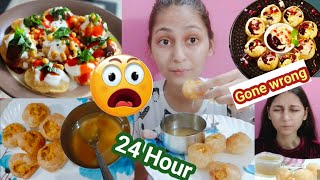 I ONLY ATE GOLGAPPA🤧 FOR 24 HOURS... ||gone wrong|| Unique kittu
