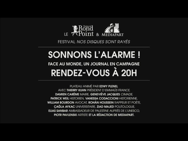Sonnons l'alarme! Réunion publique lundi à 20h, à Paris