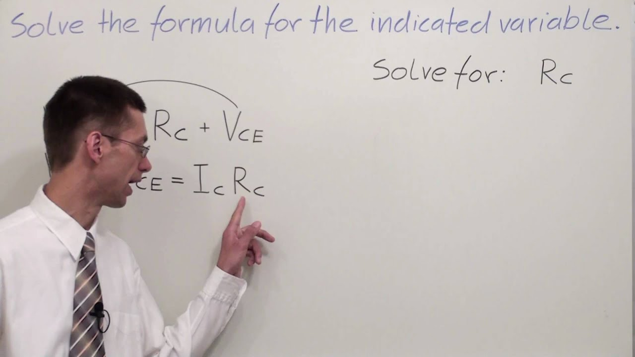 how to solve indicated variable