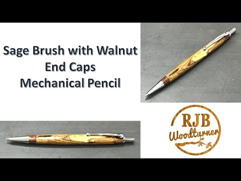 Sage Brush Pen with Walnut End Caps