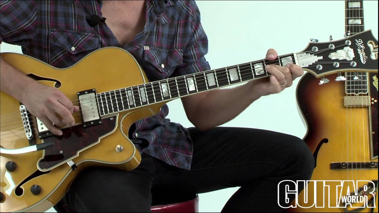 d angelico ex 175 ex style b and ex 59 guitars youtube