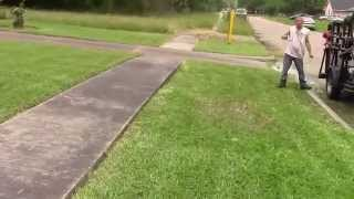 Customer wants the regular lawn care mow, edge  and  trim up bushes
