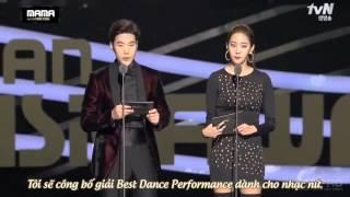 [Vietsub] 151202 Red Velvet win Best Dance Performance Female Group @ 2015 MAMA in Hong Kong